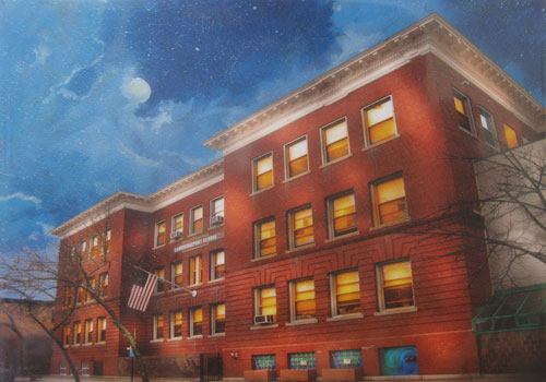 Marshall painting of Cambridgeport
